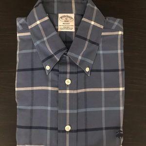 Plaid Brooks brothers dress shirt in blue